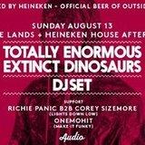 Totally Enormous Extinct Dinosaurs DJ set // Audio SF // Aug. 13